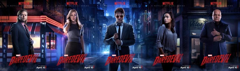 Daredevil Character Posters - Foggy Nelson, Karen Page, Matt Murdoch, Claire Temple, Wilson Fisk