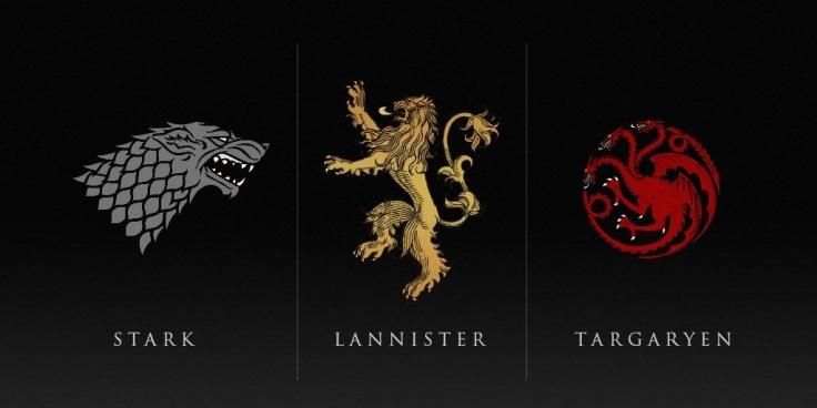 Game of Thrones Houses Stark Lannister Targaryan